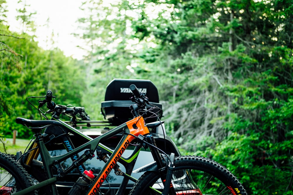 orange and black mountain bike