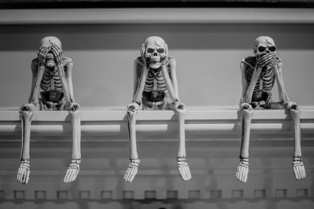 skeleton on rack wallpaper