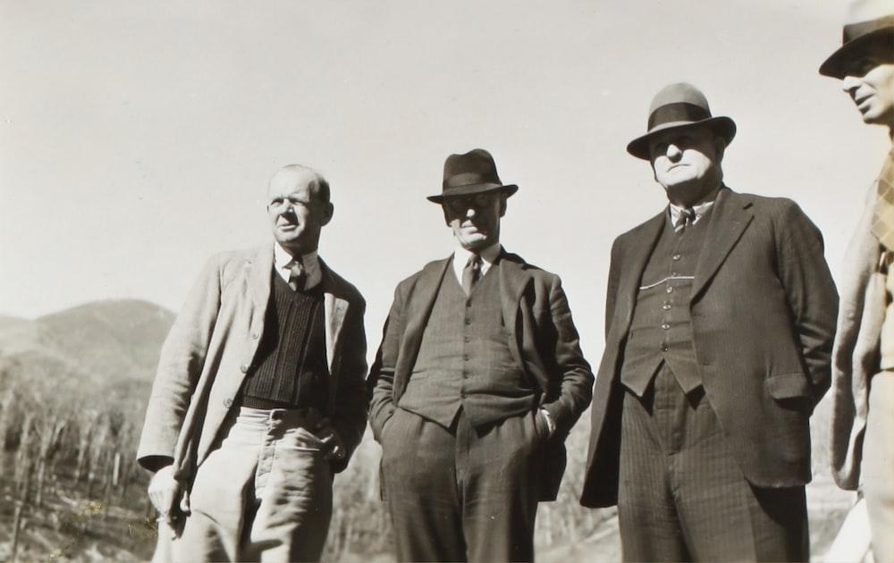 men's wearing suits