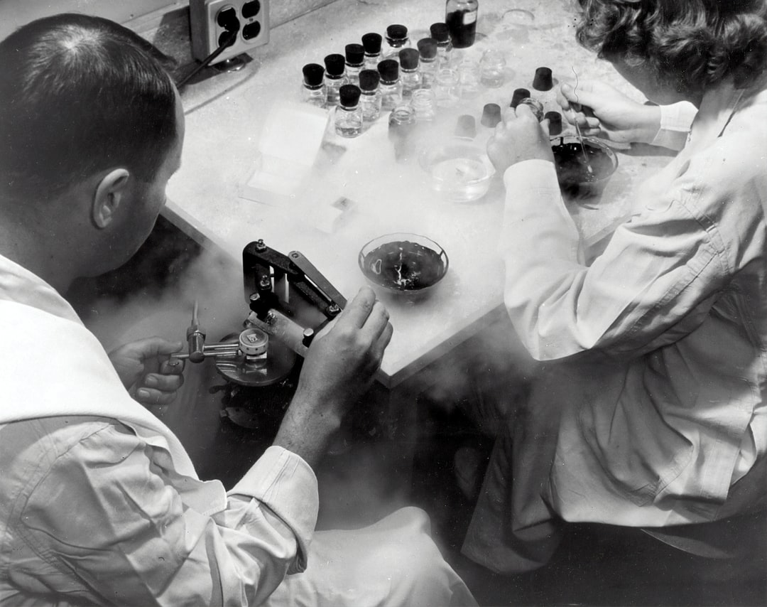 Standard equipment in many pathology laboratories includes a freezing microtome, such as this one. c. 1954