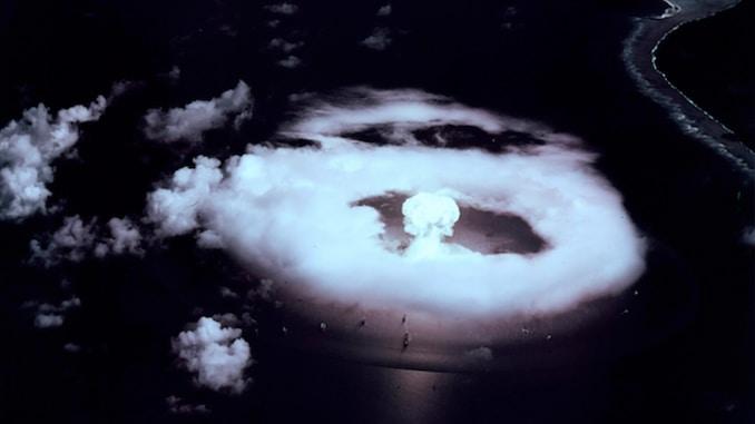 First Atom Bomb explosion at Bikini
