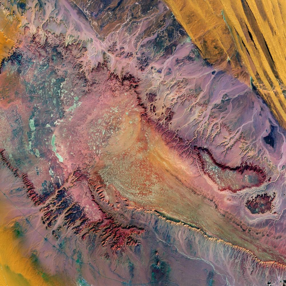 aerial photography of desert in Egypt