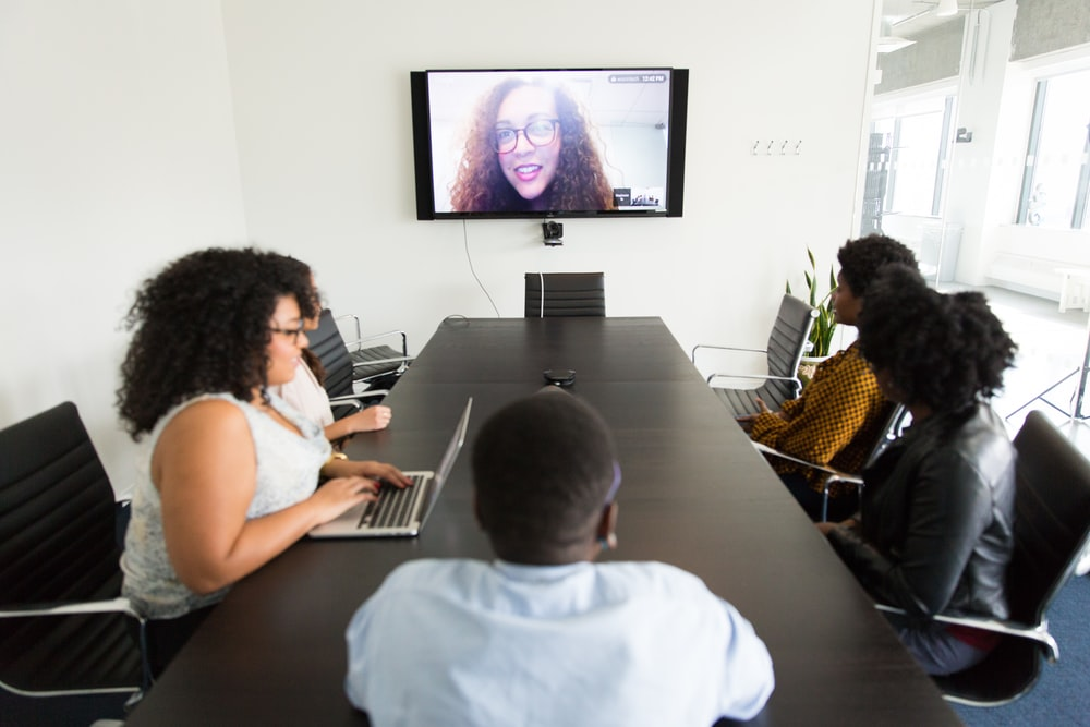 five person on the conference room
