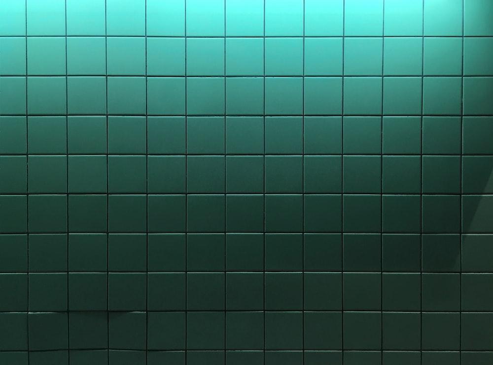 green ceramic tiles