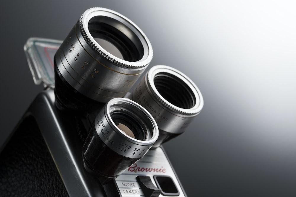 gray camera lenses