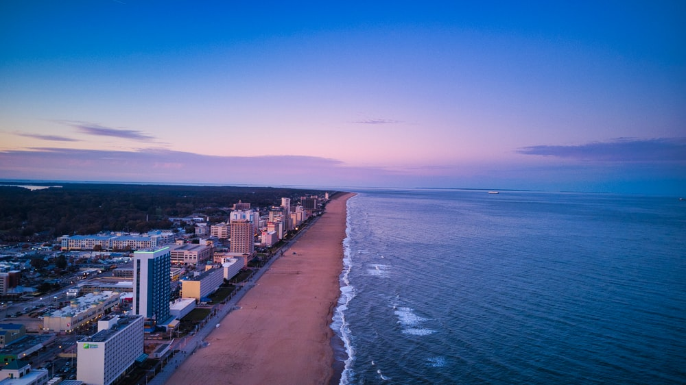 seashore skyline scenery
