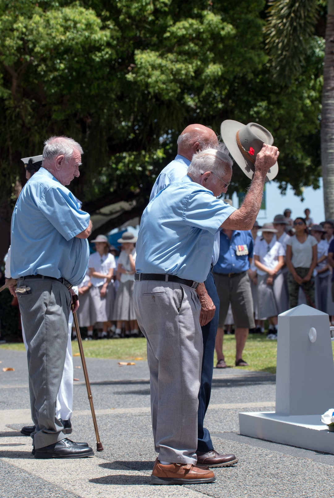 """Paying their respects"". Veterans pay their respects to those who have fought for freedom alongside them and before them. Remembrance Day, Cairns, Australia."