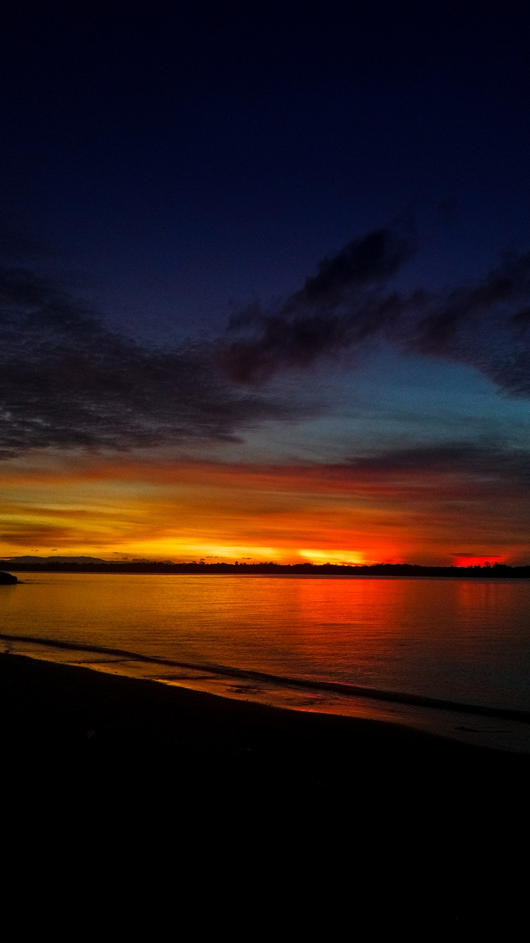 Long Exposure at the beach at sundown