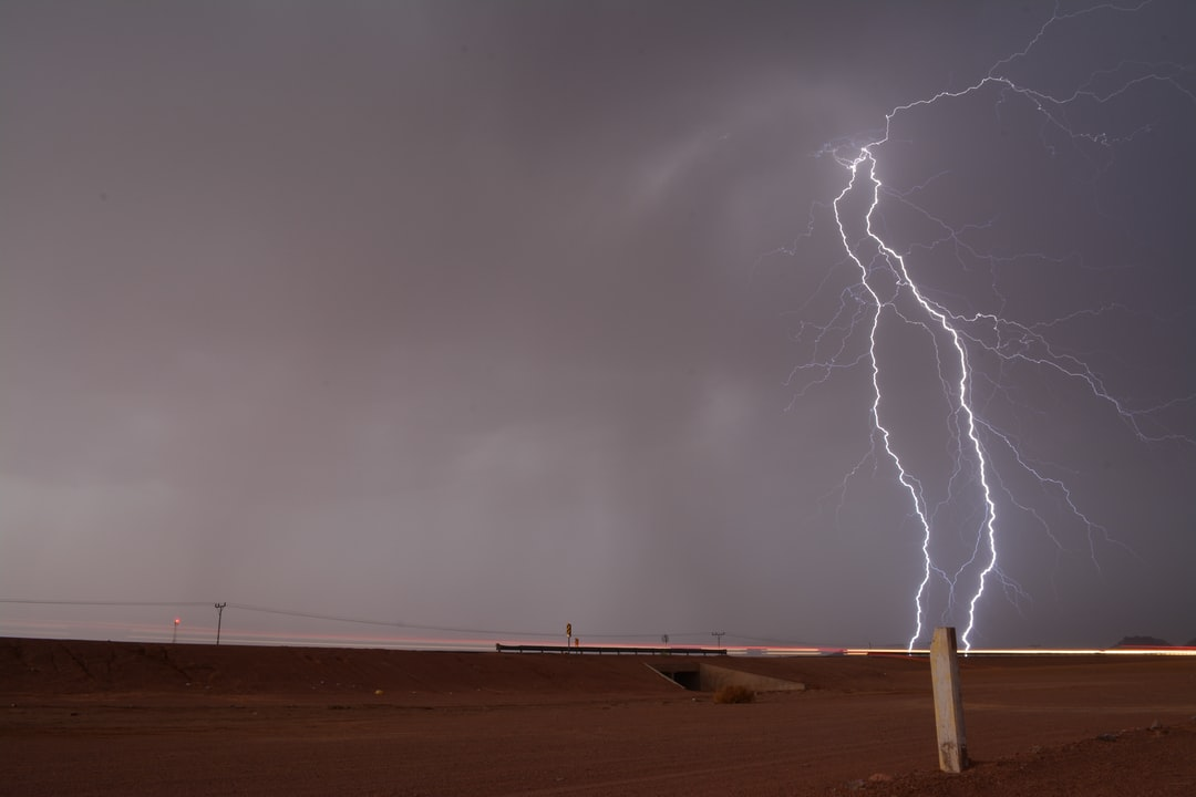 Lightning Cloud Light rain hail