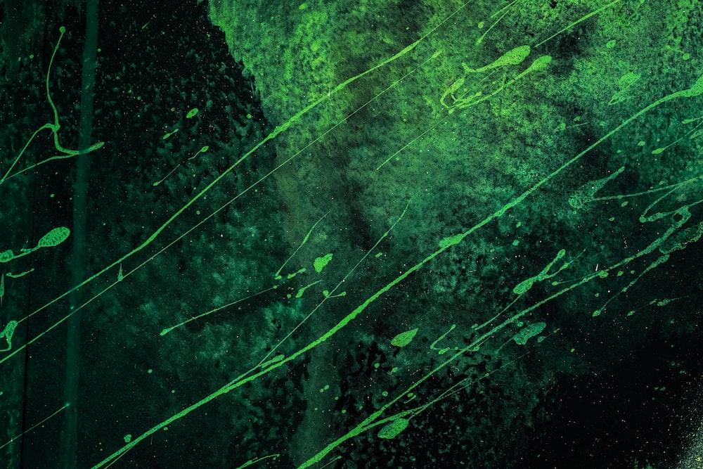 green paint splatter