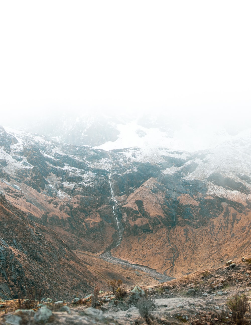 icy mountain slope scenery
