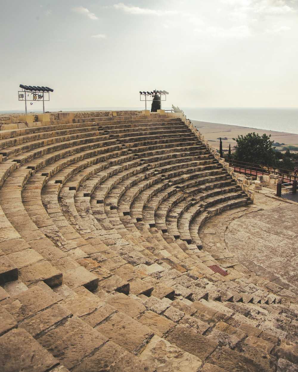 ancient Kourion city under white and gray sky