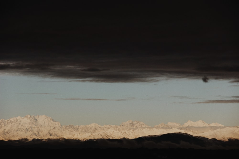 brown snow mountain