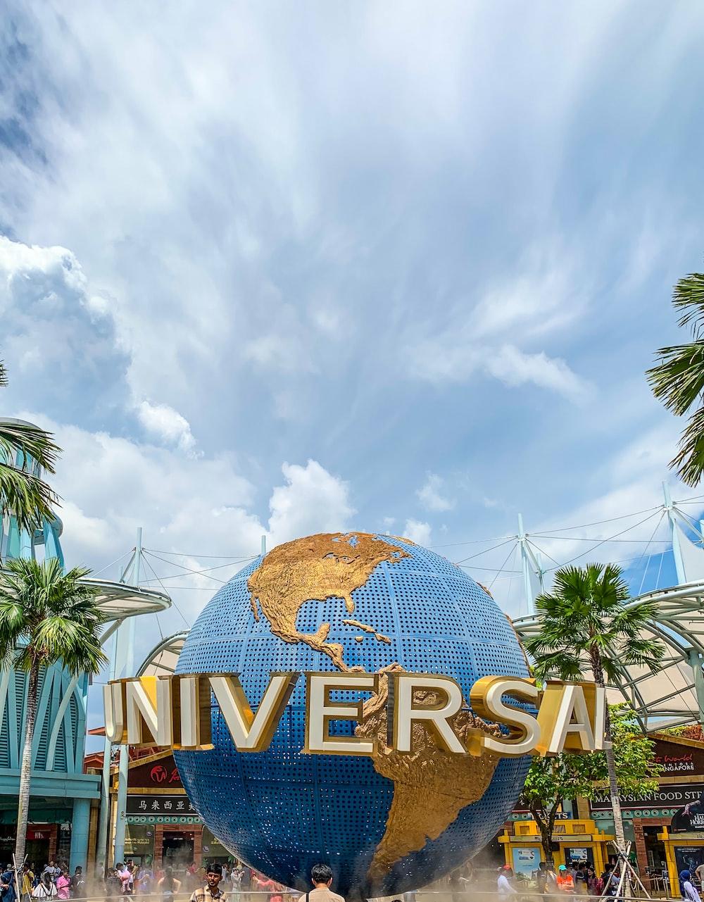Universal Studio under white sky