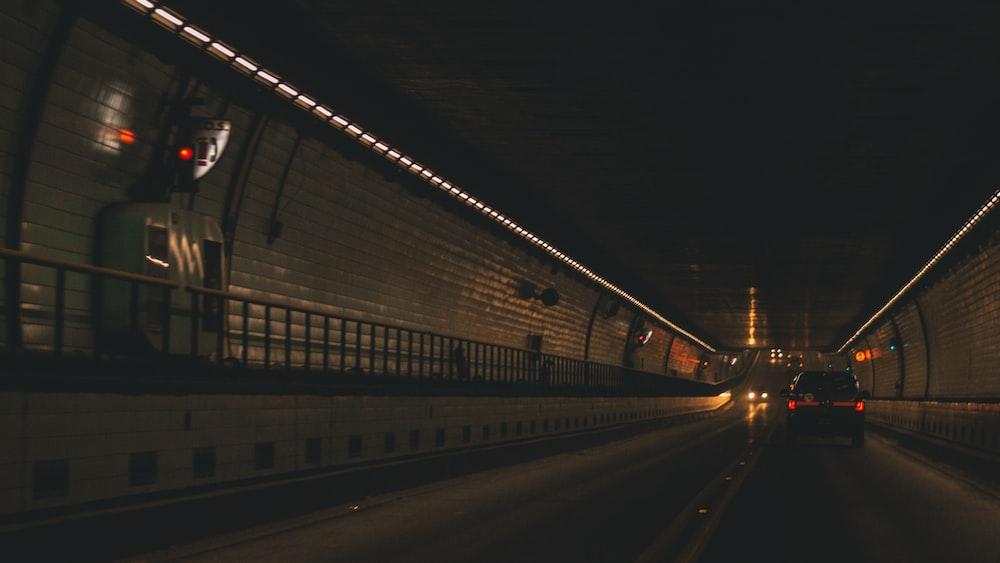 car on tunnel