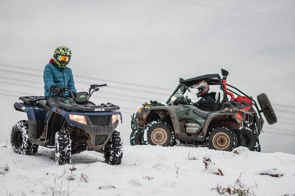 man riding on ATV