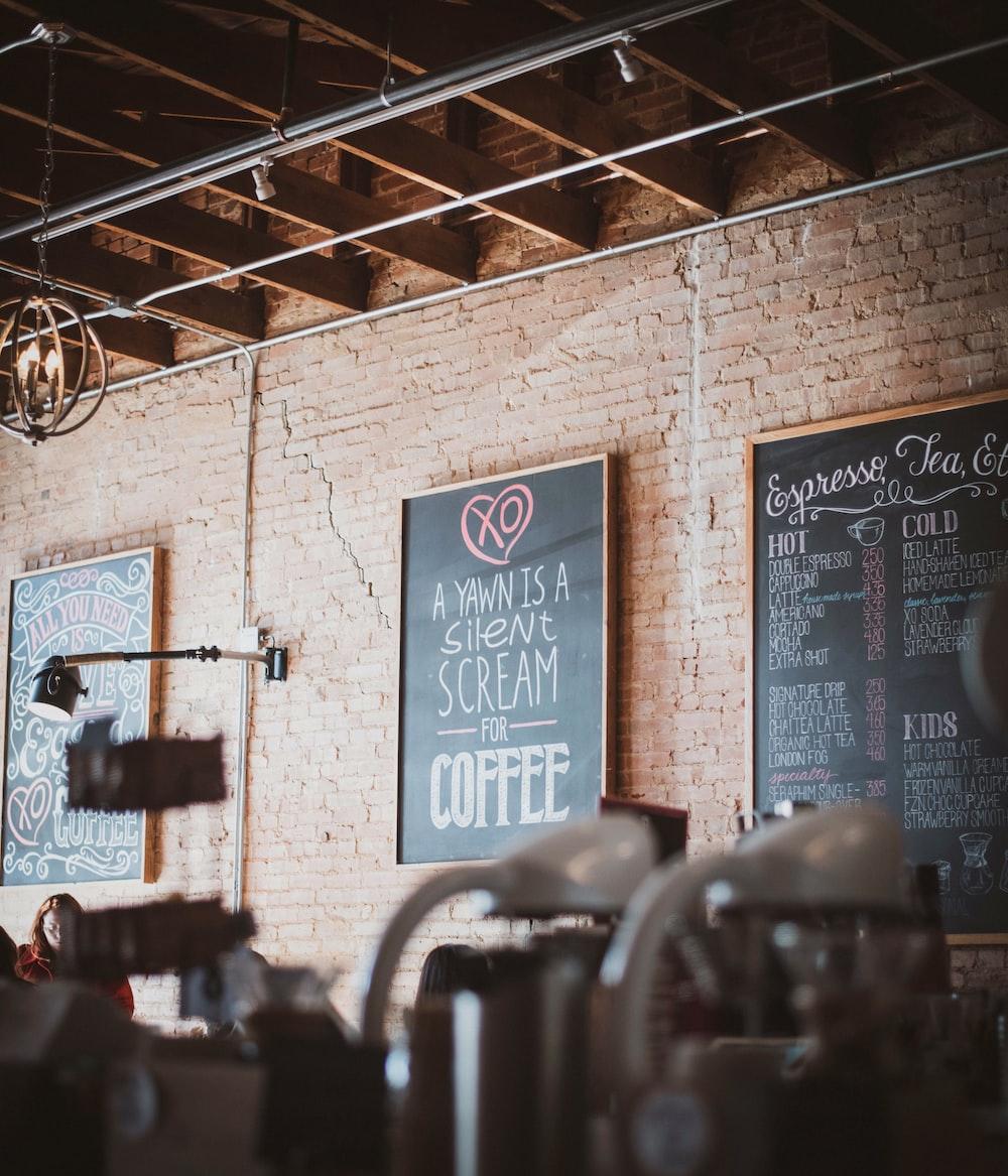 coffee signage