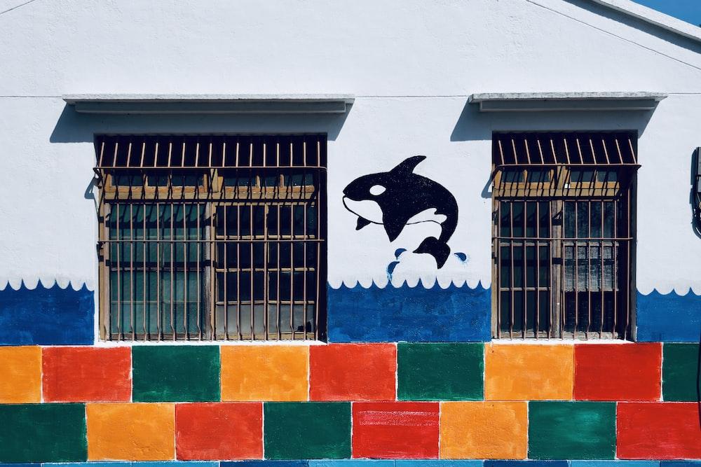killer whale wall art