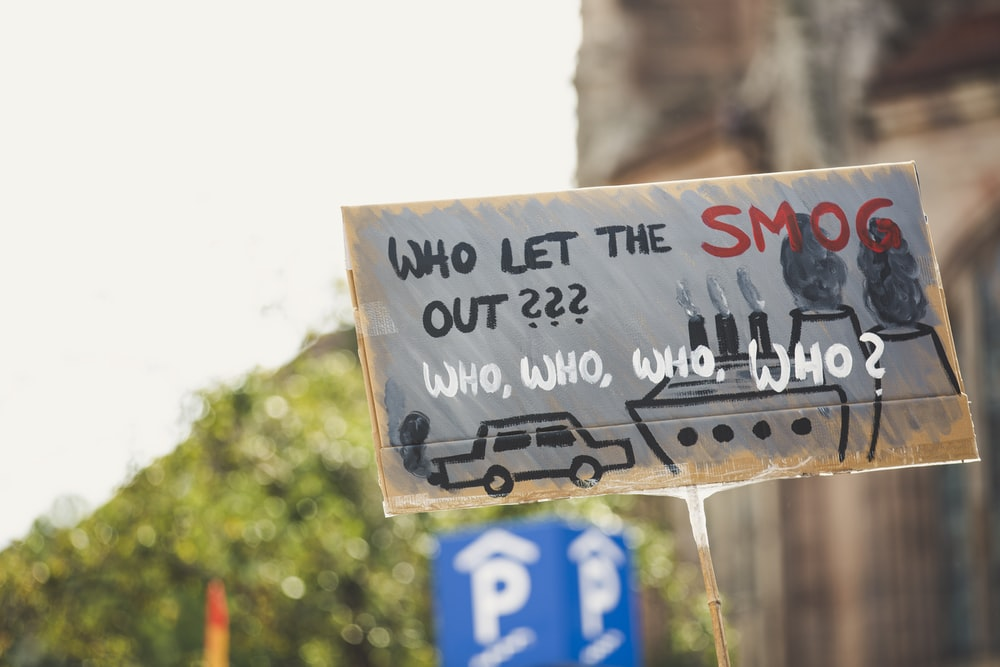 who let the smog out sign