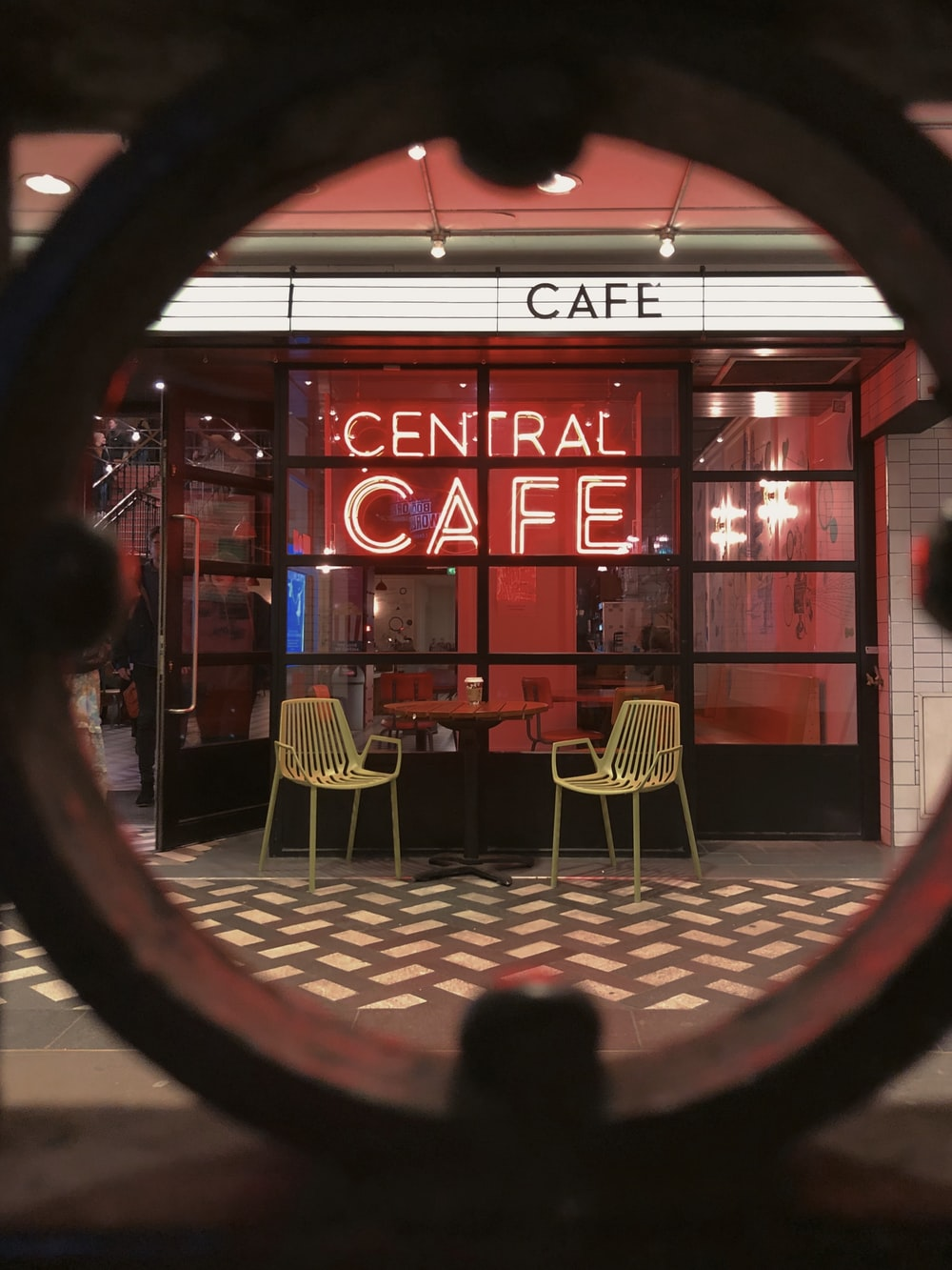 Central Cafe neon signage