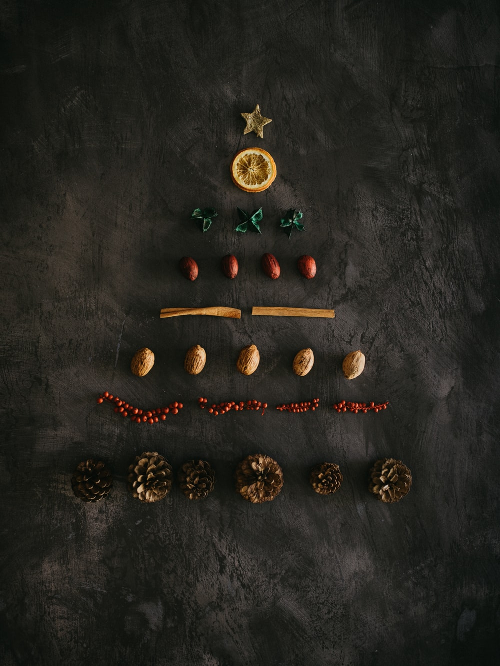 assorted-color ornaments on black surface