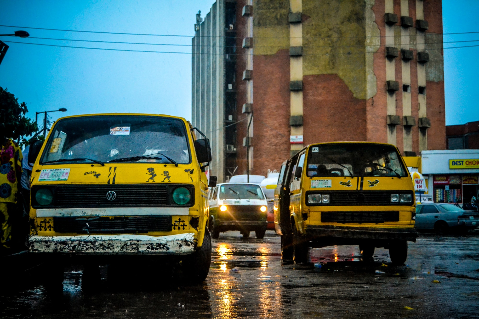 Danfo, a public means of transportation in Lagos, Nigeria