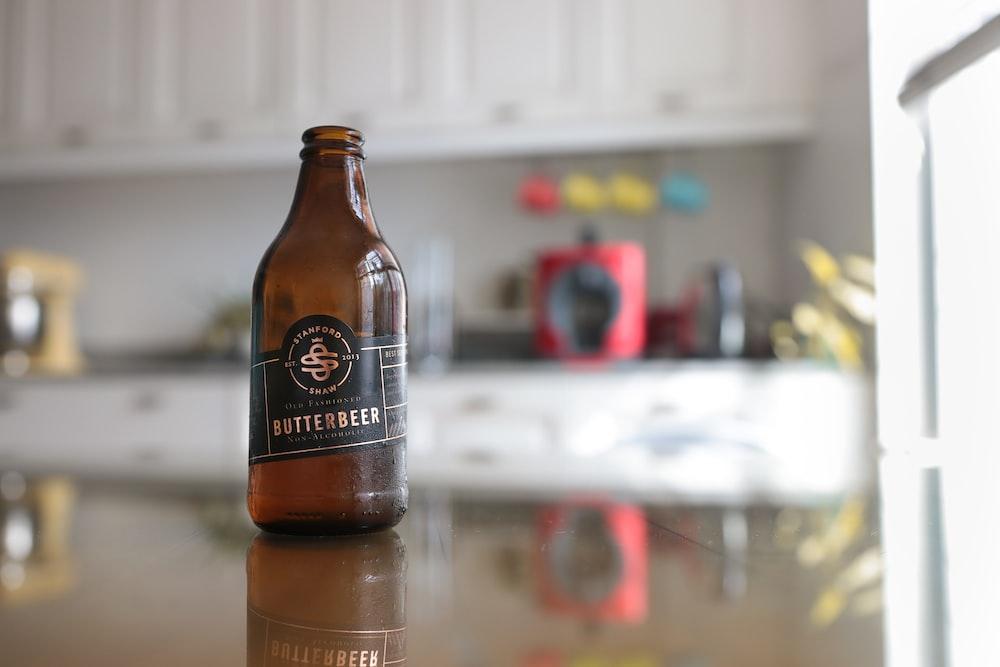Butterbeer glass bottle