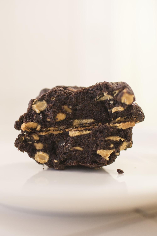 peanut coated brownie