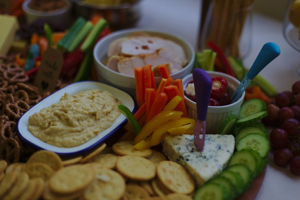 biscuits and vegetables