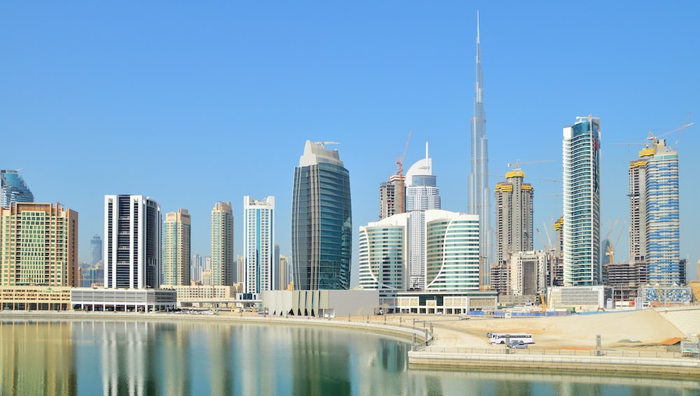 city with high-rise buildings viewing blue body of water during daytime