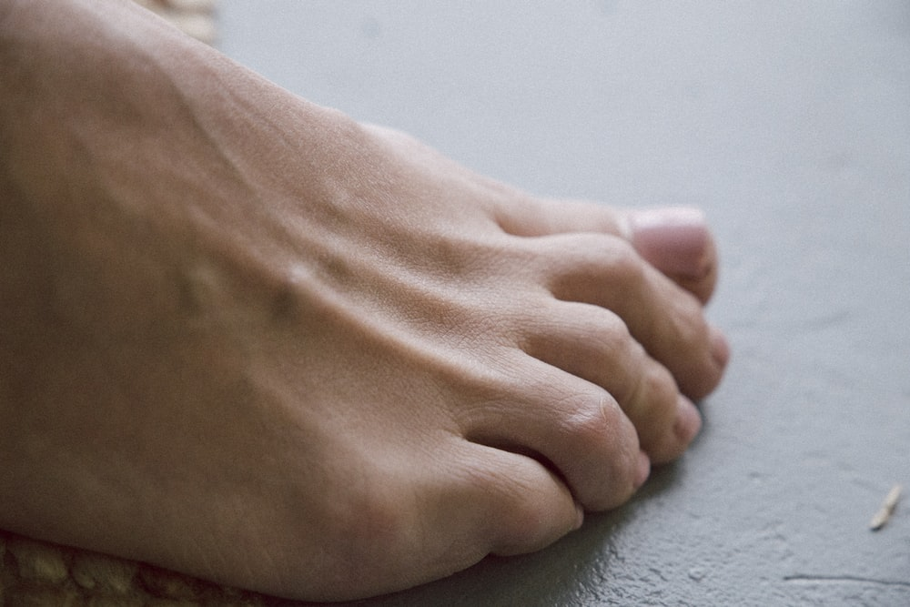 person's right foot