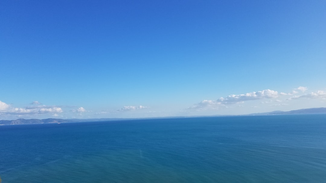 Blue sea and blue sky at Sidi Bou Saïd place.