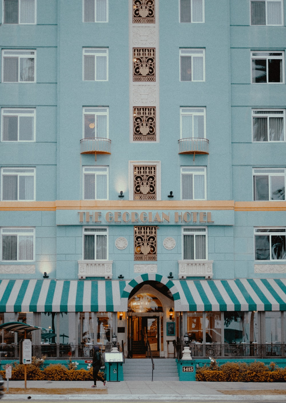 hotel with awnings