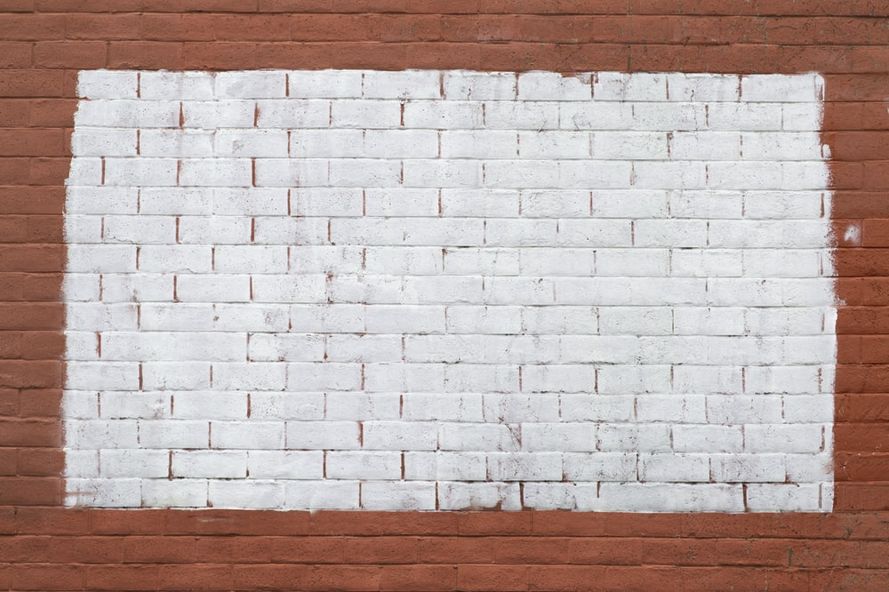 white and red brick wall