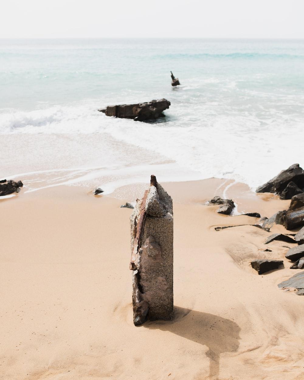 rock on shore