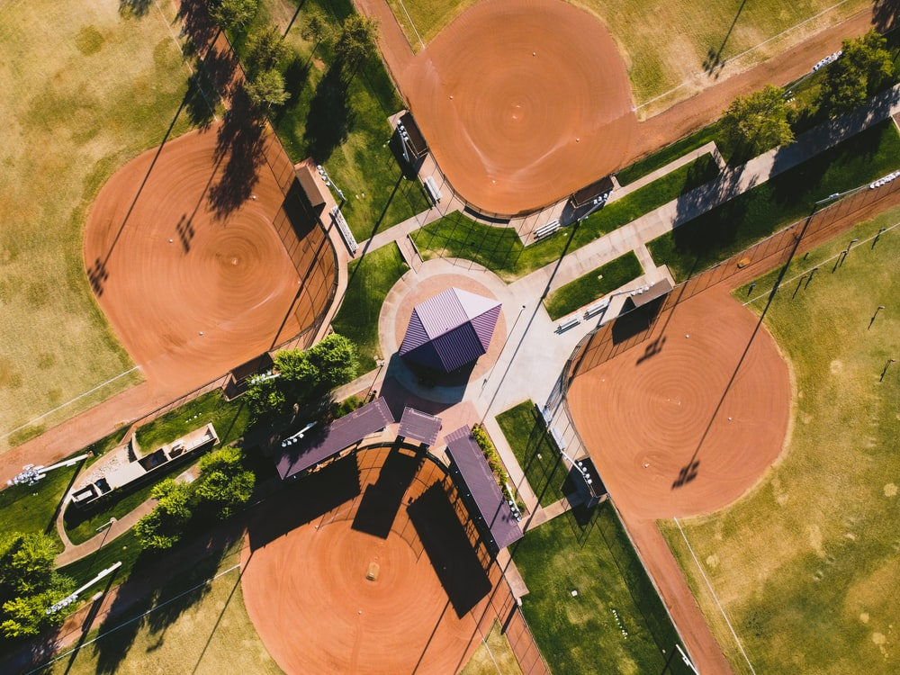 aerial photograph of house
