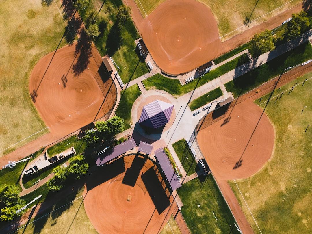 Aerial baseball fields in Anthem, Arizona.