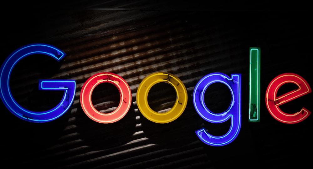 Google logo neon light signage