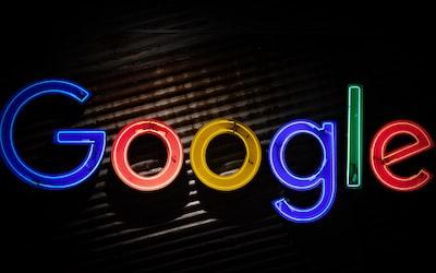 google logo neon light signage google zoom background