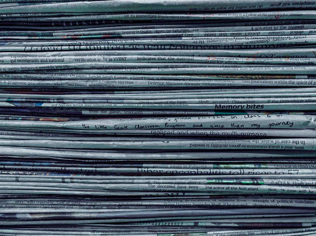 Old newspaper-stack.