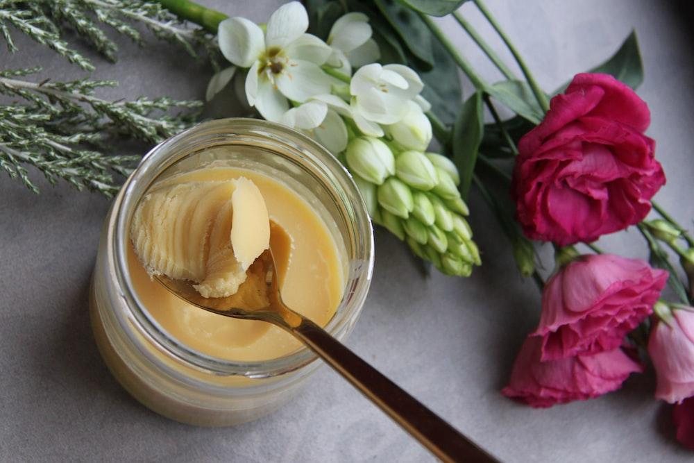 A Jar of freshly made cannabutter