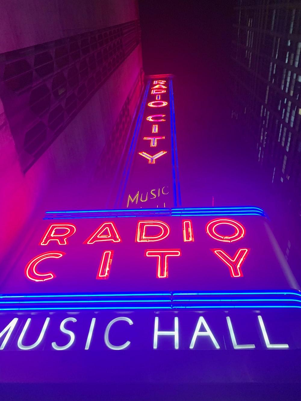 Radio City Music Hall signage