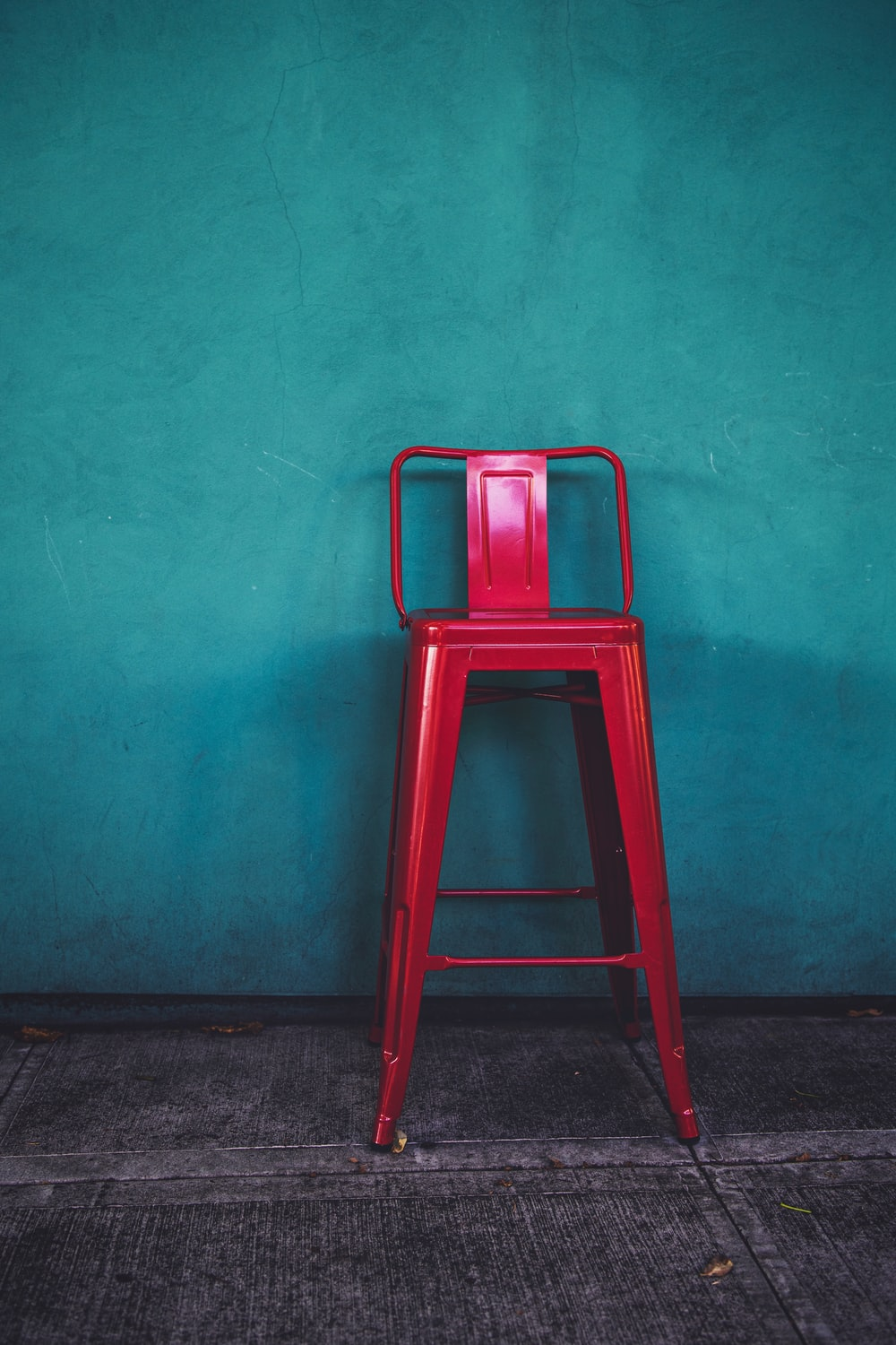 Enjoyable Red Metal Bar Chair Photo Free Chair Image On Unsplash Pdpeps Interior Chair Design Pdpepsorg