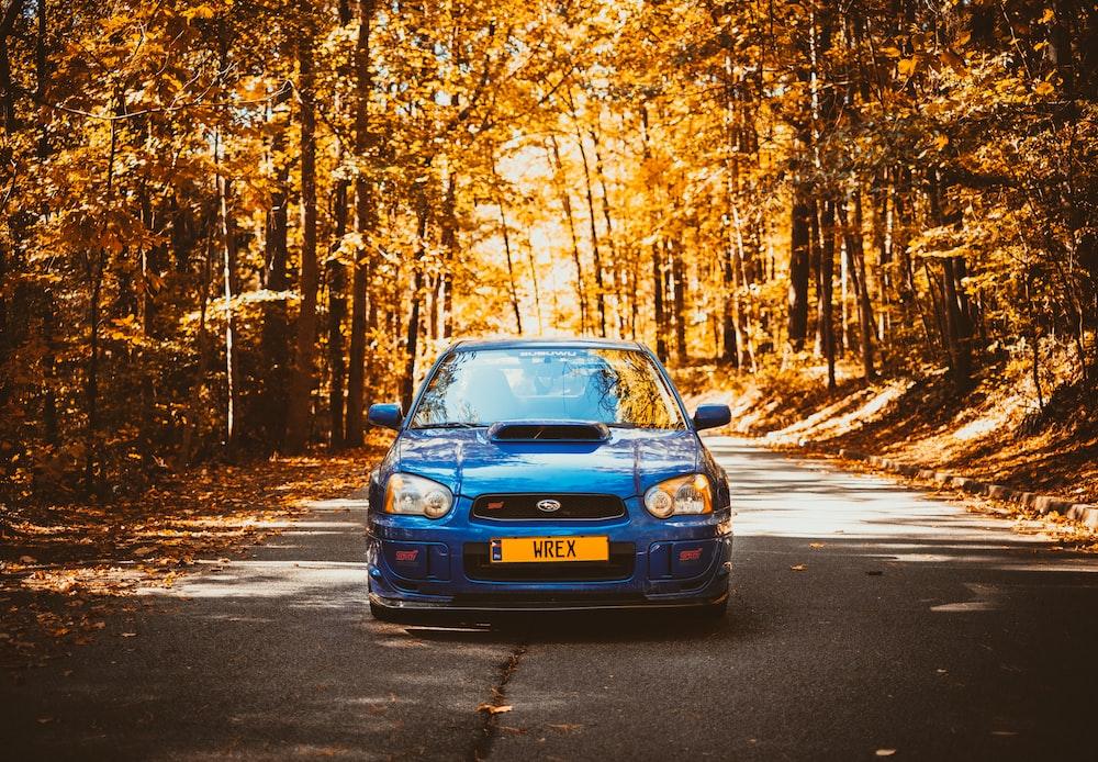 blue Subaru vehicle