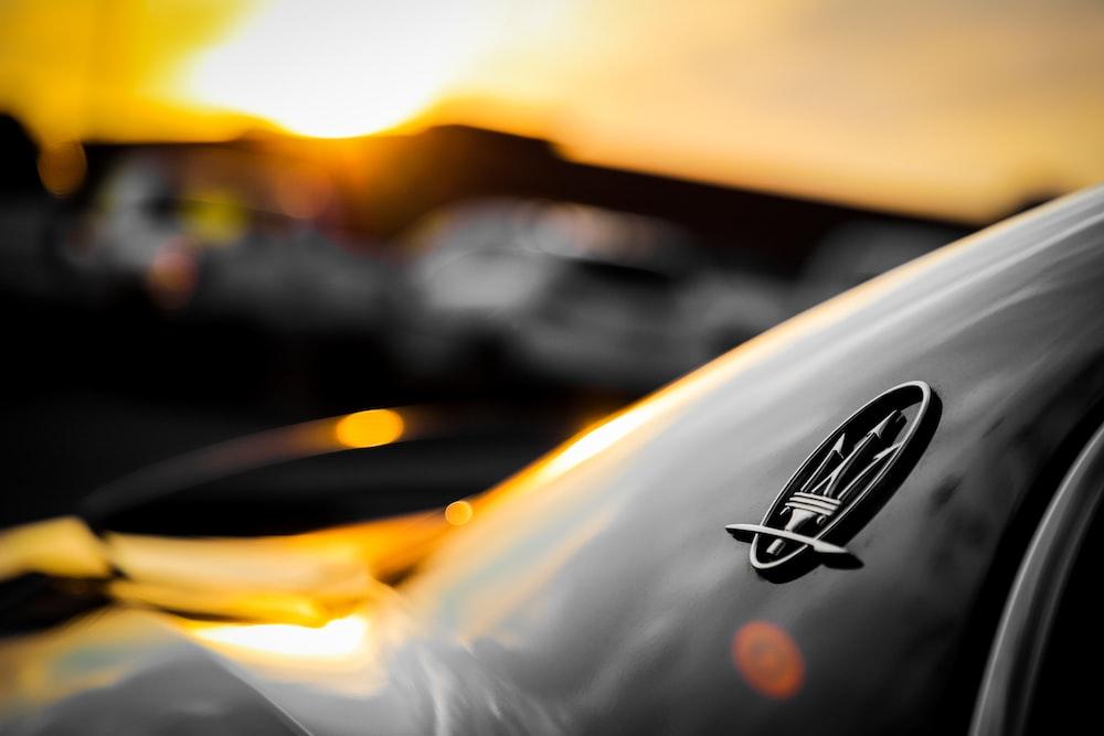 black Maserati car