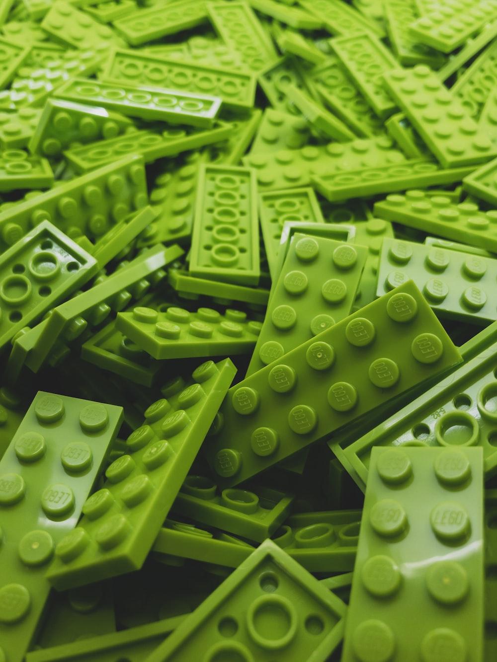 green Lego block lot