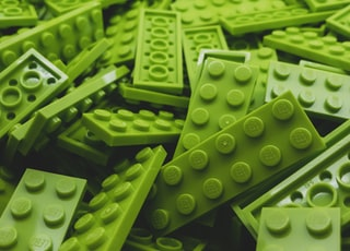 green Lego block lot
