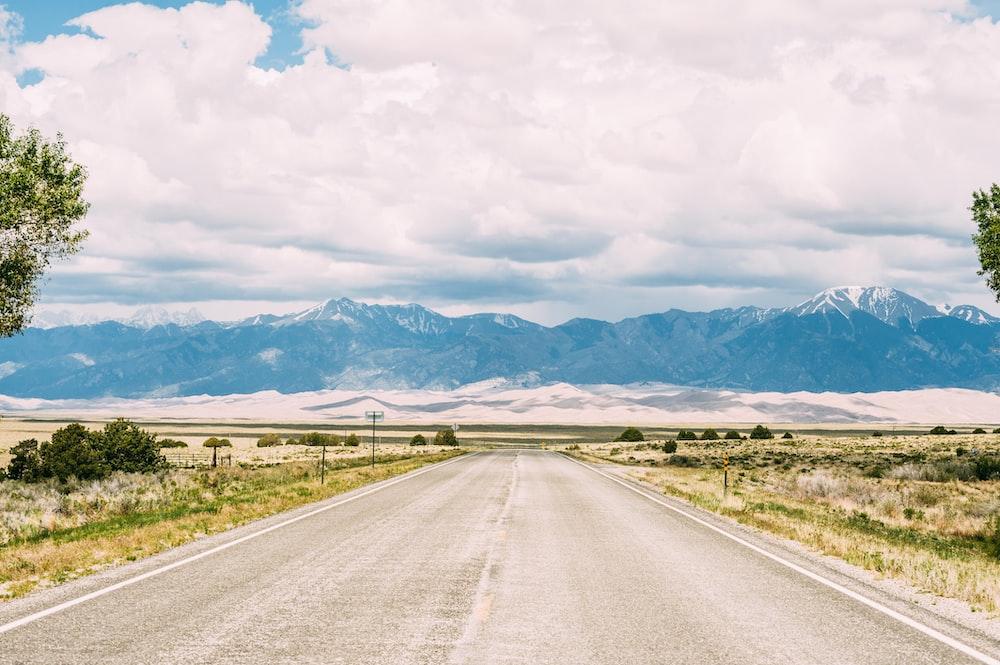road leading to mountain