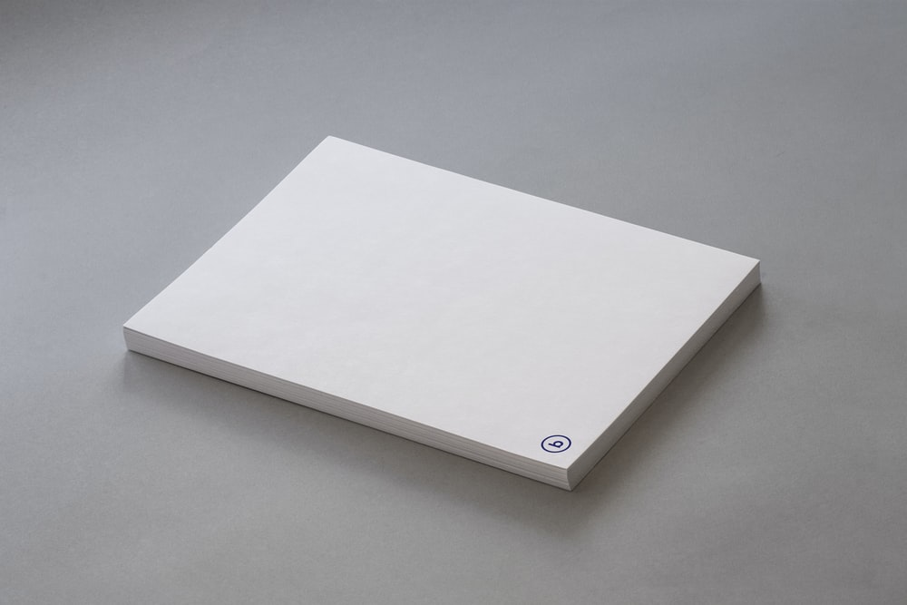 pad of white paper