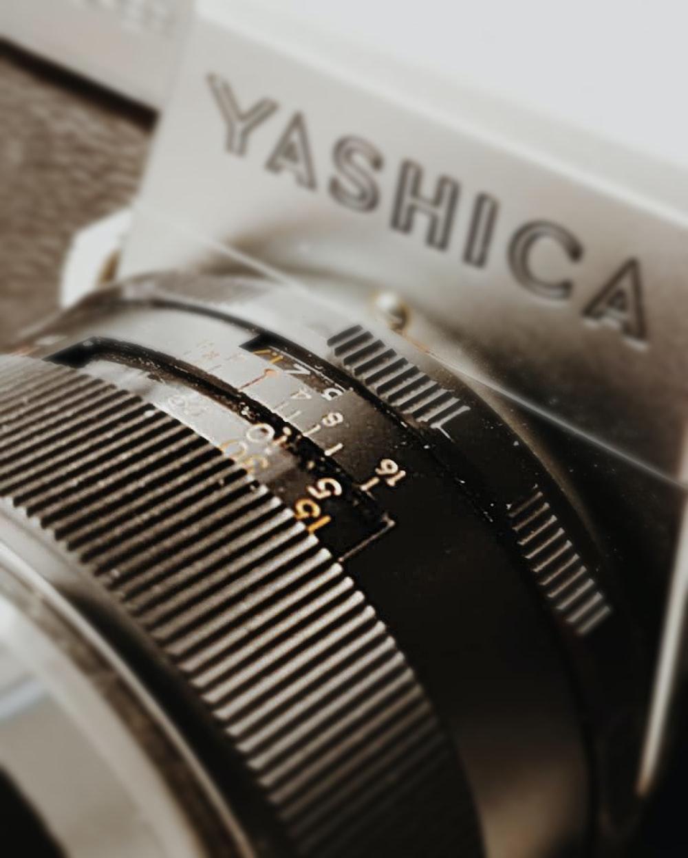 black and gray Yashica camera